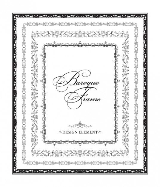 Ornamentales marco barroco negro | Descargar Vectores gratis