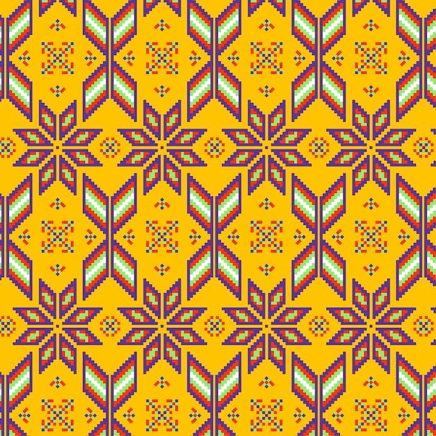 Ornamento de textura de patrón de songket vector gratuito