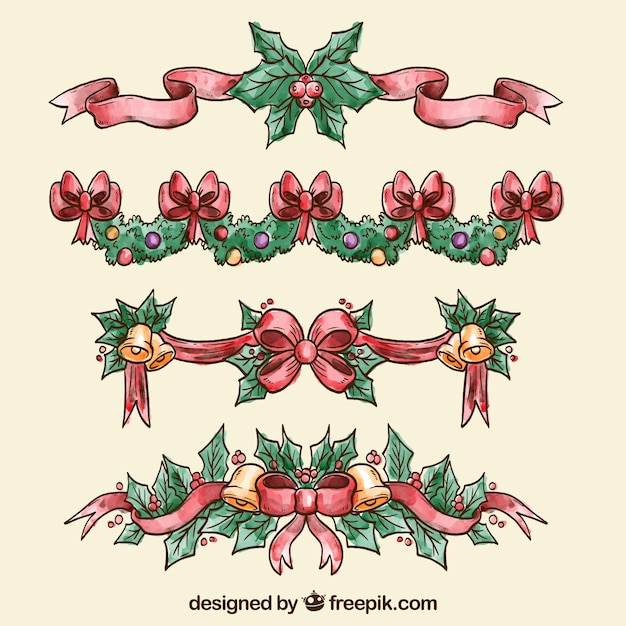 Ornamentos de navidad pintados a mano descargar vectores - Ornamentos de navidad ...