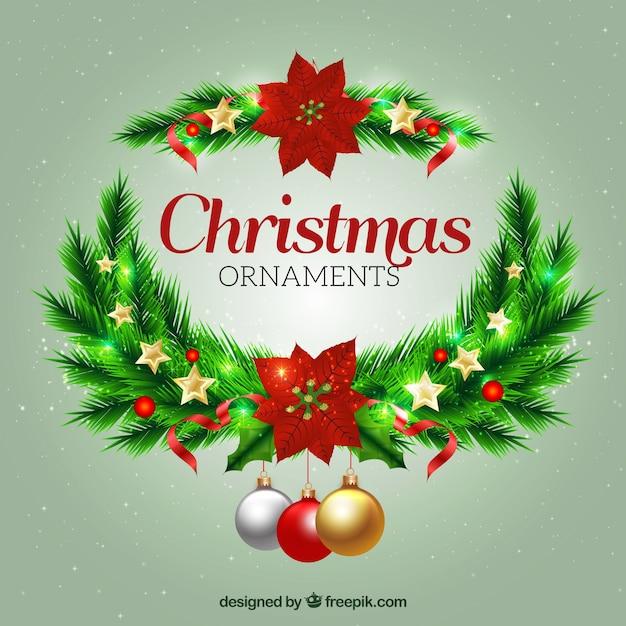 Ornamentos elegantes de navidad descargar vectores gratis - Ornamentos de navidad ...