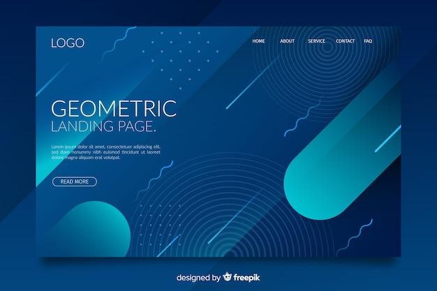 Oscuro degradado formas geométricas página de inicio vector gratuito
