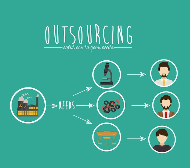 Outsourcing de diseño digital | Vector Premium