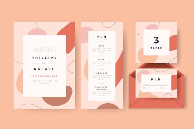 Pack de artículos de boda vector gratuito