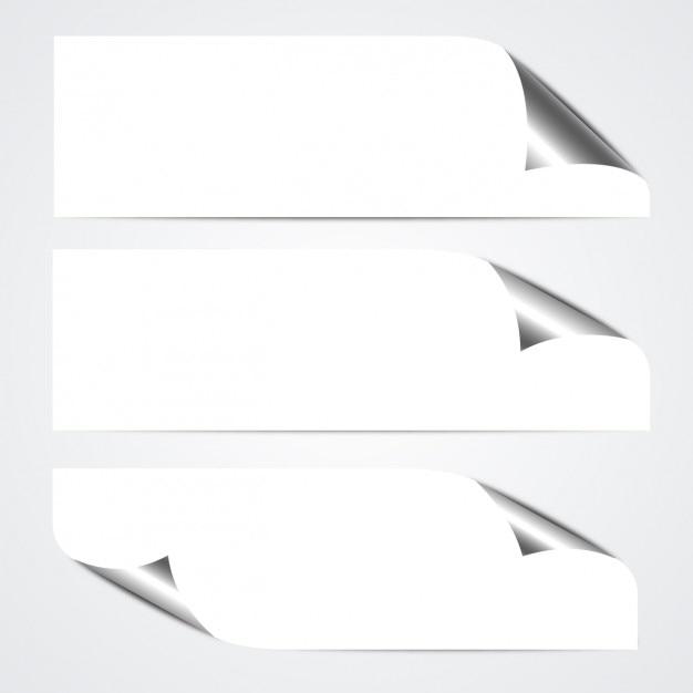 Pack de banners doblados vector gratuito