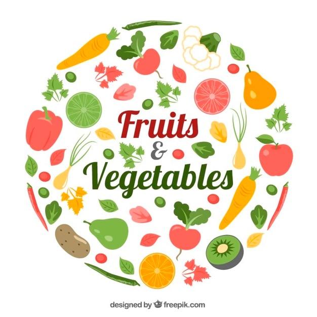 comida saludable frutas y verduras