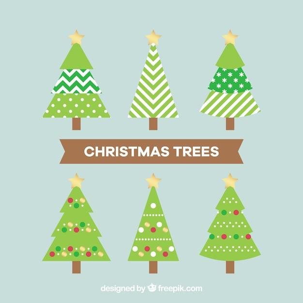 Arboles decorativos amazing ilustracin vectorial patrn - Decorativos para navidad ...