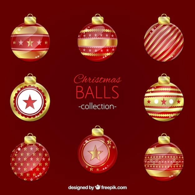 Pack de bolas de navidad rojas y doradas descargar - Bolas de navidad doradas ...