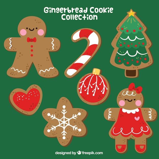 Pack de bonitas galletas navideñas de jengibre   Descargar Vectores ...