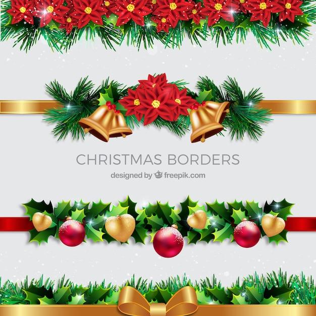Pack de bordes decorativos de navidad descargar vectores - Decorativos de navidad ...