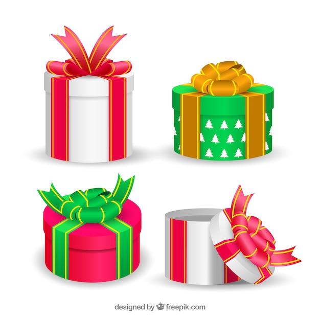 Pack de cajas bonitas de regalos navideños | Descargar Vectores gratis