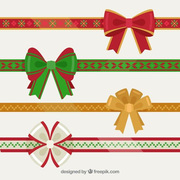 Pack de cintas con lazos para regalos de navidad for Cintas de navidad