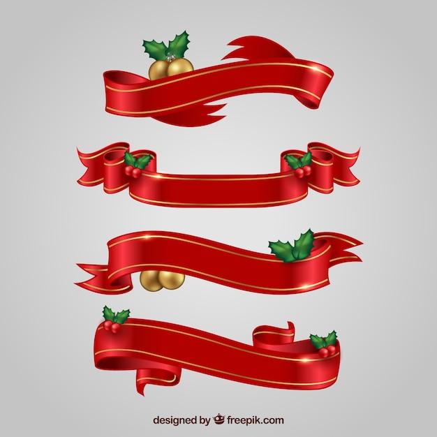 Mistletoe banner fotos y vectores gratis for Cintas de navidad