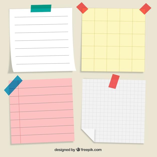 Pack de cuatro notas de papel para escribir mensajes | Descargar ...