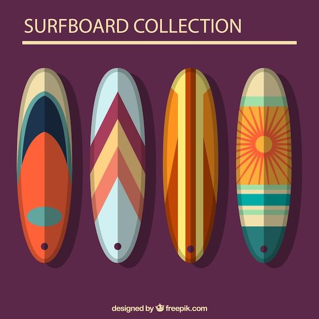 Pack de cuatro tablas de surf planas con dise o abstracto - Disenos de tablas de surf ...