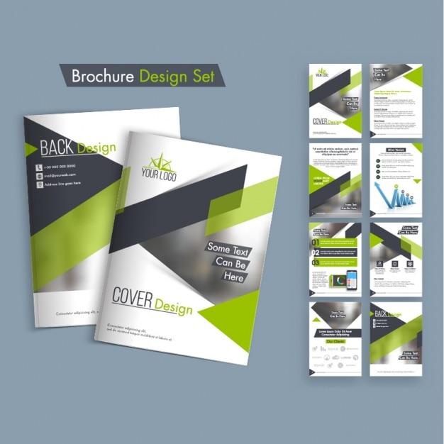 15 Best Images About Notebook Covers Wallpaper Etc On: Pack De Diseños De Folletos Con Formas Verdes