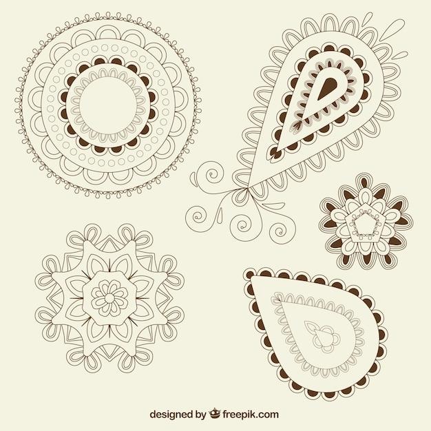 pack de formas ornamentales de estampado descargar