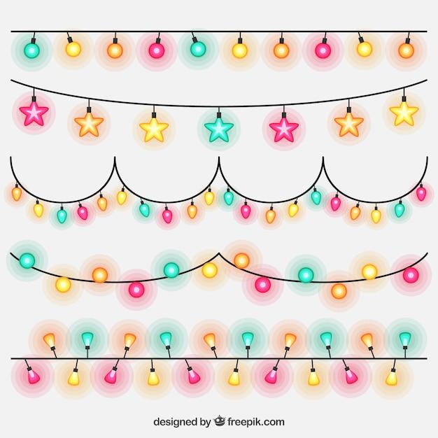 Pack de guirnaldas de luces de colores de fiesta for Guirnaldas de luces