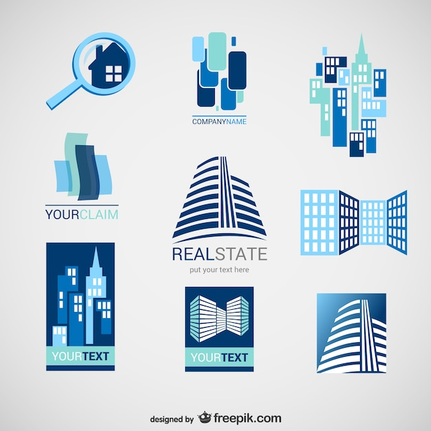 Pack De Logos De Inmobiliarias Descargar Vectores Gratis