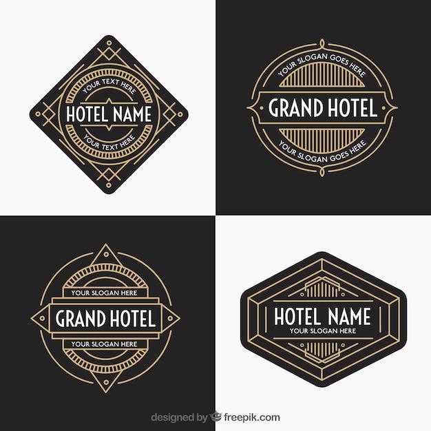 pack de logos de lujo y dorado de hoteles descargar