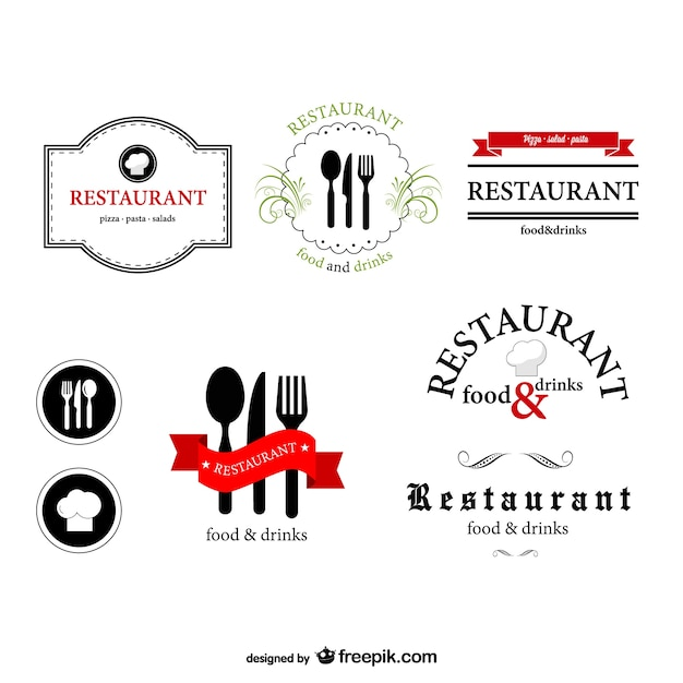 Pack de logotipos de restaurante | Descargar Vectores gratis