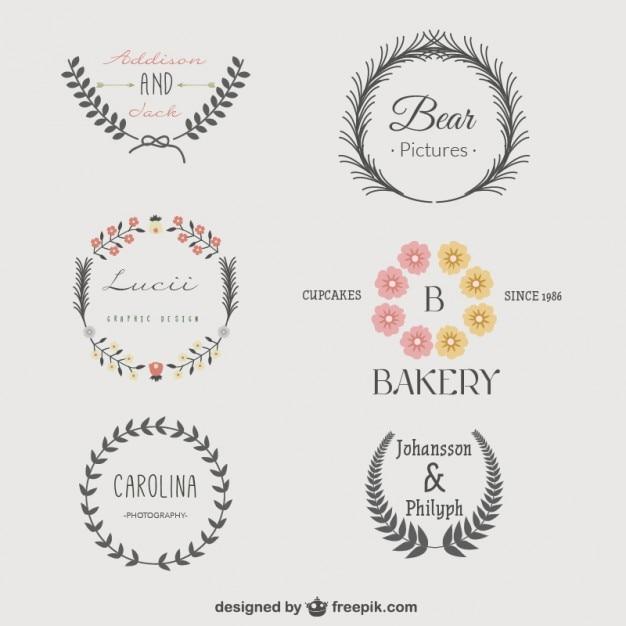 Pack de plantillas de logotipo vintage descargar for Logos para editar