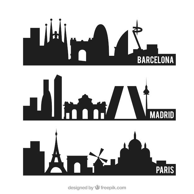 Barcelona fotos y vectores gratis - Siluetas para imprimir ...