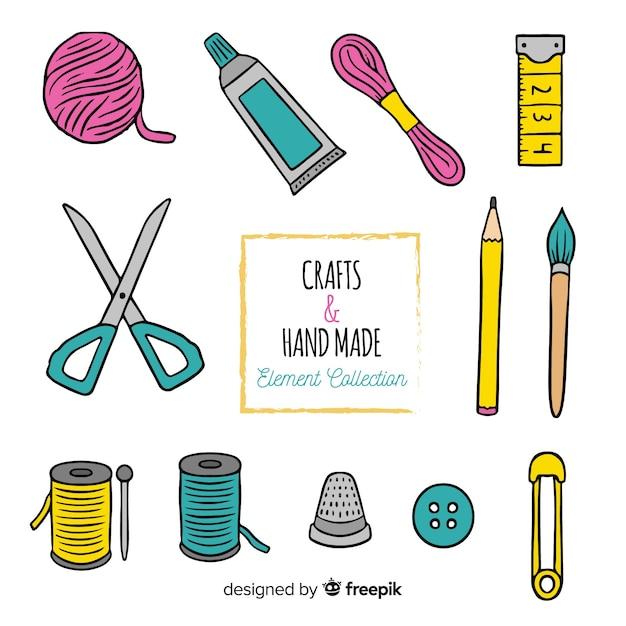Pack elementos coser vector gratuito
