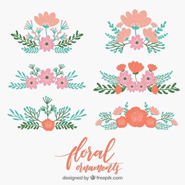 Pack De Flores Vintage Decorativas Descargar Vectores Gratis