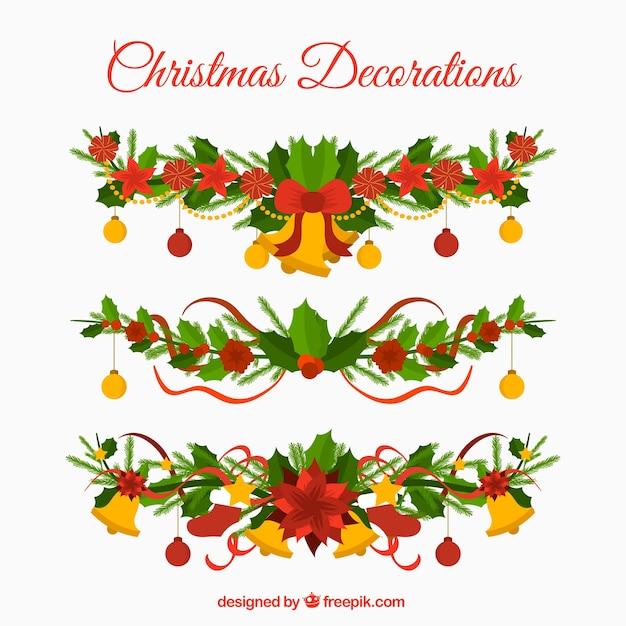 Guirnaldas De Navidad Imagenes.Pack De Guirnaldas Navidenas Decorativas Descargar