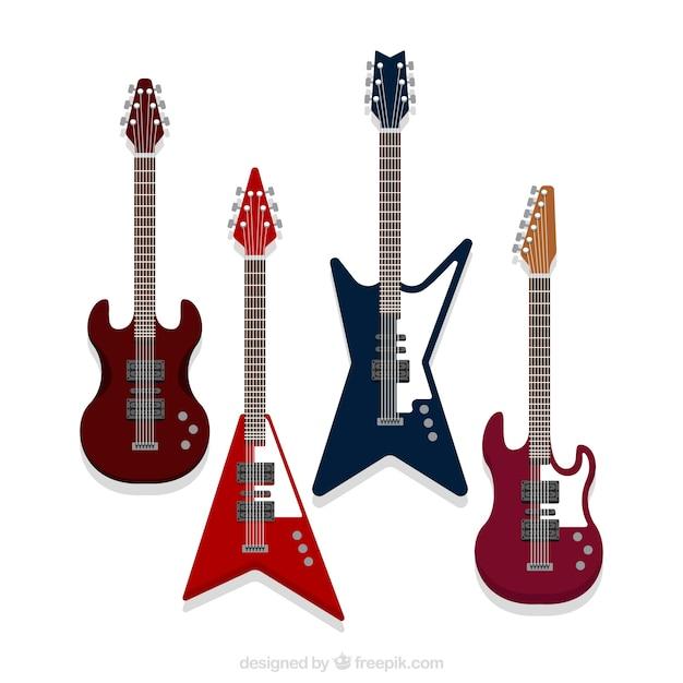 Pack De Guitarras Eléctricas Con Diseños Fantásticos