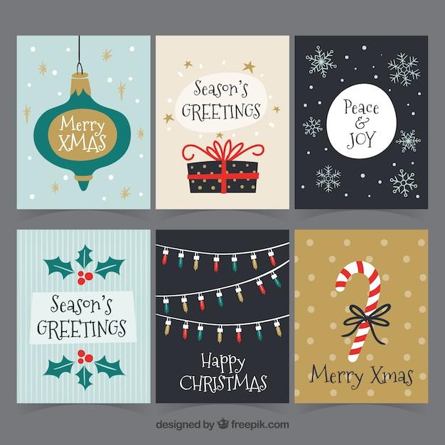 Pack original de tarjetas de navidad a mano descargar - Tarjeta navidad original ...