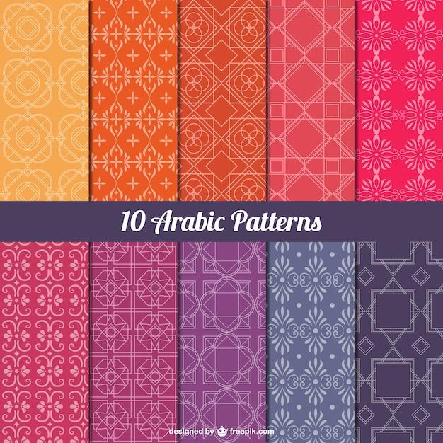 Pack de patrones árabes vector gratuito