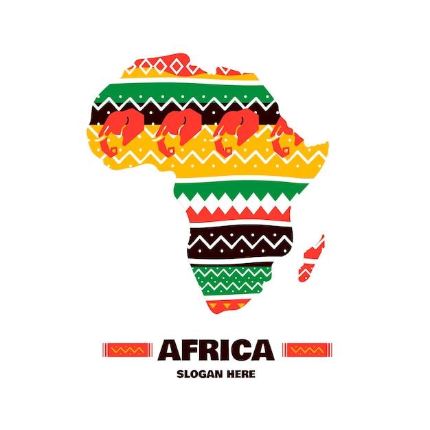 Pack de plantilla de logotipo de áfrica vector gratuito