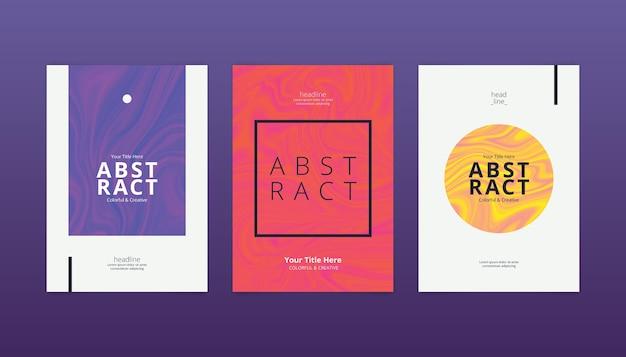 Pack de portadas minimalistas abstractas vector gratuito