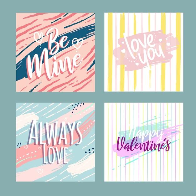 Pack de venta de san valentín instagram post Vector Premium