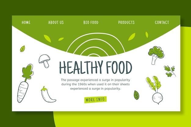 Página de aterrizaje bio y saludable vector gratuito