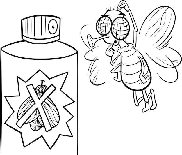 Página para colorear de moscas y insectos | Descargar Vectores Premium
