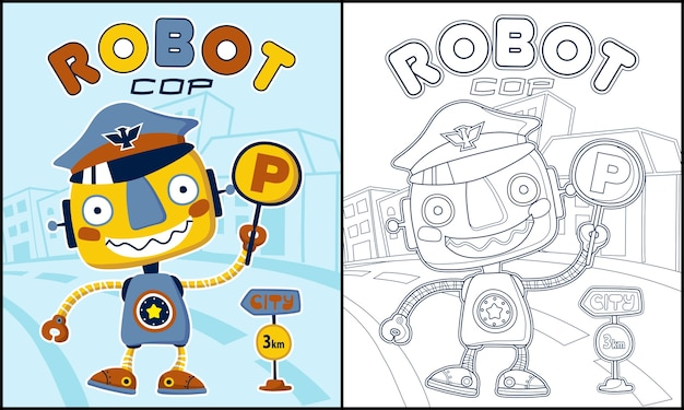 Página para colorear o libro con divertidos dibujos animados de ...