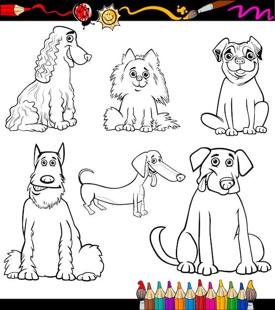 Página Para Colorear De Razas De Perros De Dibujos Animados
