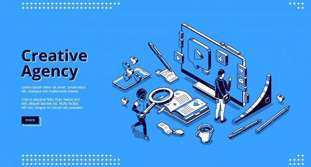 Página de destino para agencia creativa vector gratuito