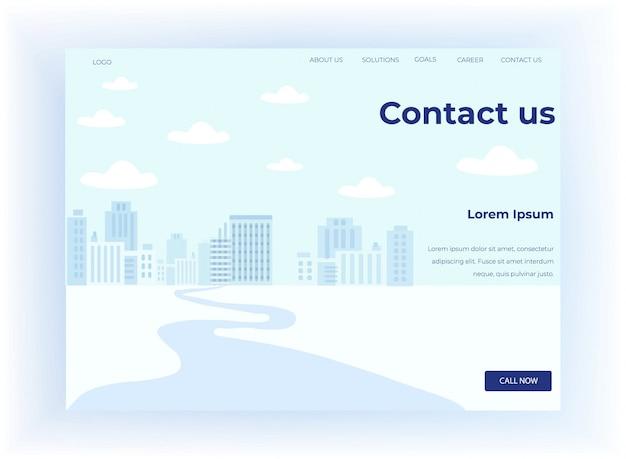 La página de destino motiva a contactar con el centro de llamadas Vector Premium