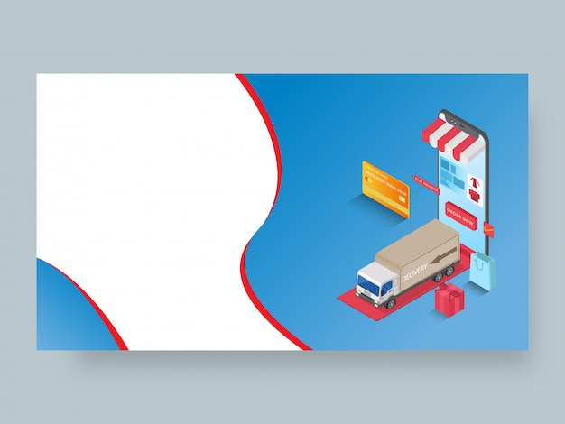 Página de destino receptiva o plantilla web Vector Premium