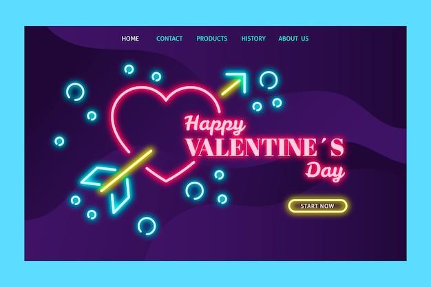 Página de destino con tema del día de san valentín vector gratuito