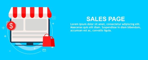 Página de destino de ventas vector gratuito
