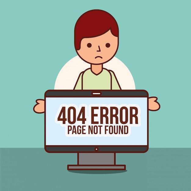 Página de error 404 no encontrada Vector Premium
