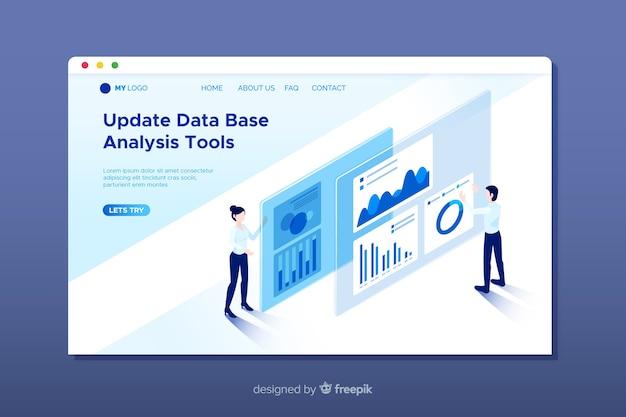 Página de inicio de análisis de datos vector gratuito