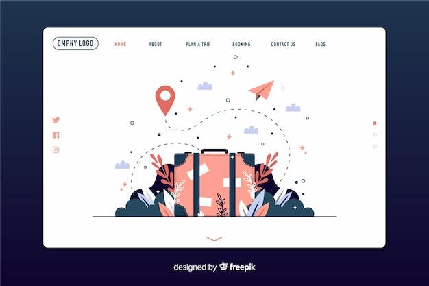 Página de inicio de aventura de plantilla vector gratuito