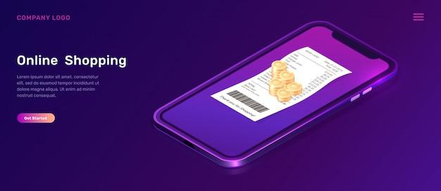 Página de inicio de compras en línea vector gratuito