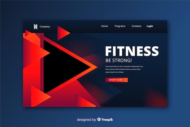 Página de inicio de fitness moderno vector gratuito
