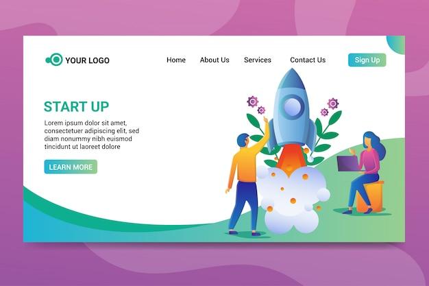 Página de inicio de inicio Vector Premium